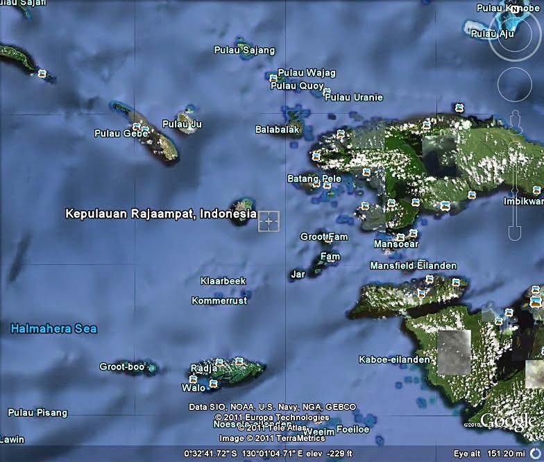 Gambar Foto Pemandangan Panorama Kepulauan Raja Ampat Papua Barat Papua Via Google Maps